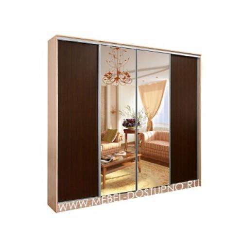 Альянс 4 шкаф-купе с зеркалом