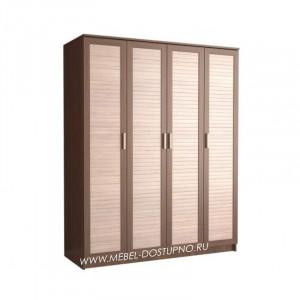 Жалюзи ЧР-1 шкаф 4-х дверный (с реечными вставками Кантри)