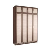 Жалюзи ЧР-10 шкаф 4-х дверный (с реечными вставками Кантри)