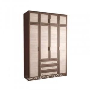 Жалюзи ЧР-12 шкаф 4-х дверный (с реечными вставками Кантри)