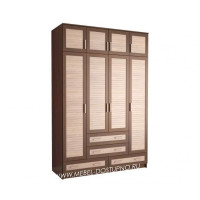 Жалюзи ЧР-16 шкаф 4-х дверный (с реечными вставками Кантри)