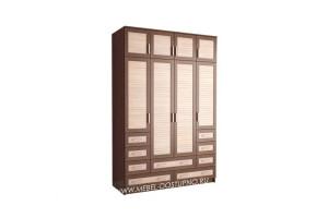 Жалюзи ЧР-17 шкаф 4-х дверный (с реечными вставками Кантри)