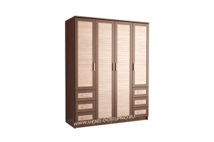 Жалюзи ЧР-3 шкаф 4-х дверный (с реечными вставками Кантри)