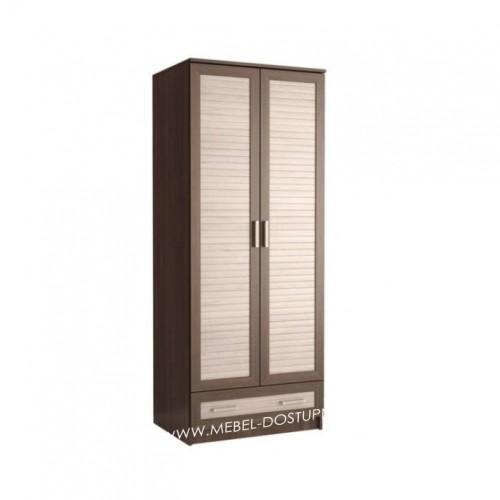 Жалюзи ДР-2 шкаф распашной (с реечными вставками Кантри и ящиком)