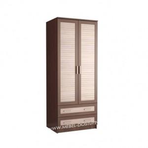 Жалюзи ДР-3 шкаф распашной (с реечными вставками Кантри и ящиками)