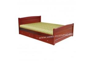 Кровать Берта-1 из массива дерева (береза, бук, дуб, ясень)