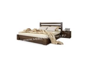 Кровать из массива дерева (бук, сосна, дуб, ясень) на заказ по индивидуальным размерам