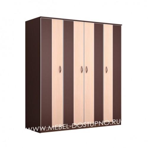 Глэдис ЧК-1 распашной шкаф 4х-дверный