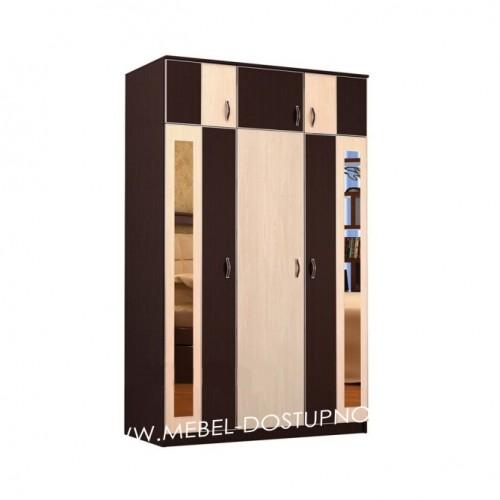 Глэдис ТК-10 распашной шкаф  3х дверный с антесолью