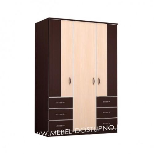 Глэдис ТК-7 распашной шкаф  3х дверный