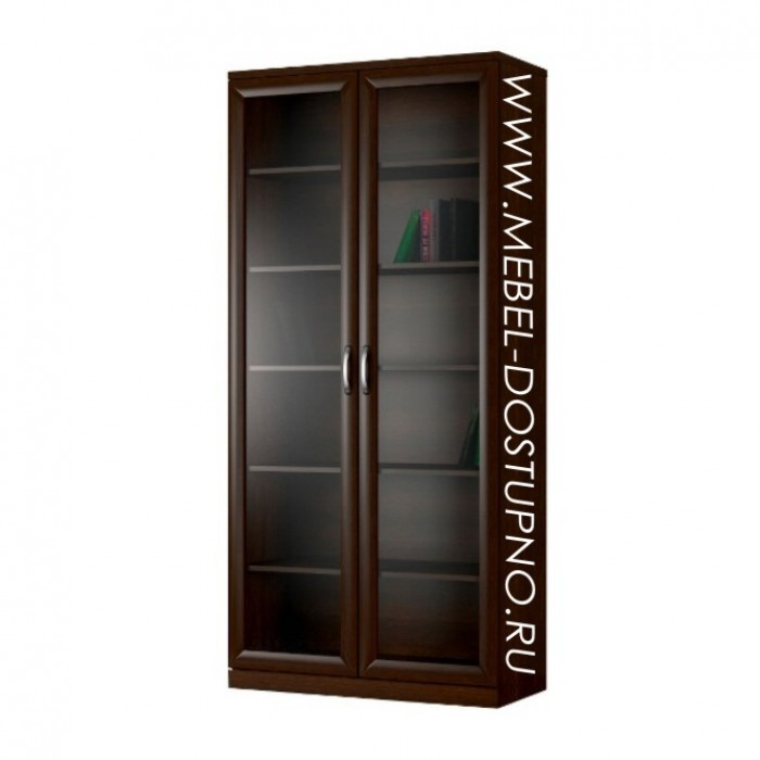 Библиограф-1 двухдверный закрытый стеллаж для книг (книжный .
