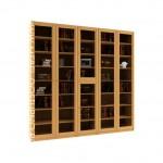 Гала 5.1 книжный шкаф (библиотека, стеллаж)
