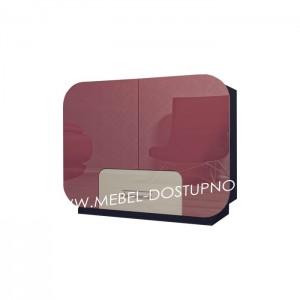 Комод глянцевый с закругленными углами Модерн-3