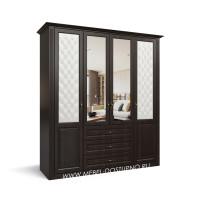 Шкаф-купе в классическом стиле в спальню и прихожую