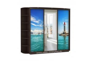 Фантазия 24 шкаф-купе  (с рисунком маяк море)