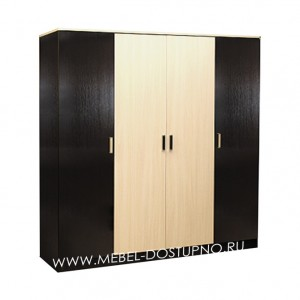 Лайт 4  шкаф 4-х створчатый распашной