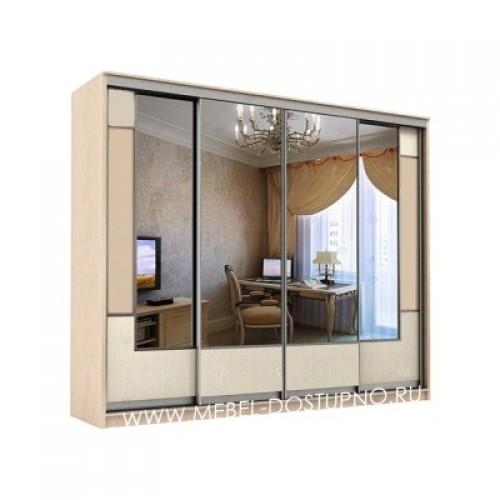 Неаполь 4 шкаф-купе с зеркалами
