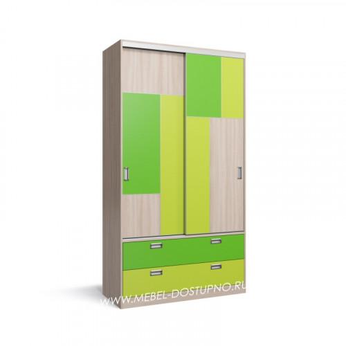 Нова-4 шкаф-купе с тонким профилем (подвесная система дверей)
