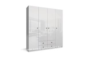 Тренд-12 распашной шкаф с фасадами МДФ глянец