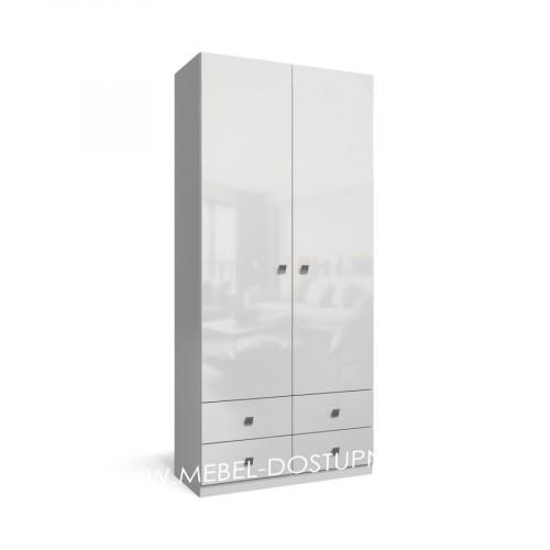 Тренд-6 распашной шкаф с фасадами МДФ глянец
