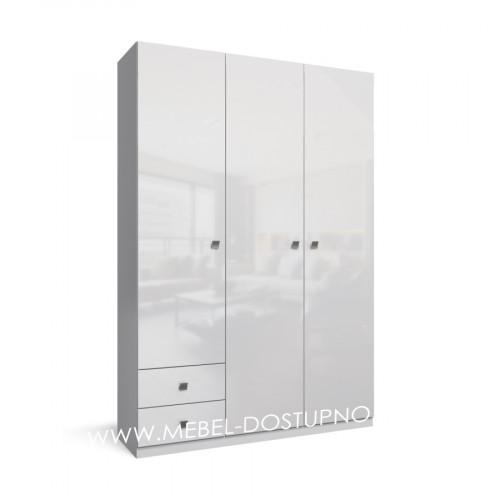 Тренд-9 распашной шкаф с фасадами МДФ глянец