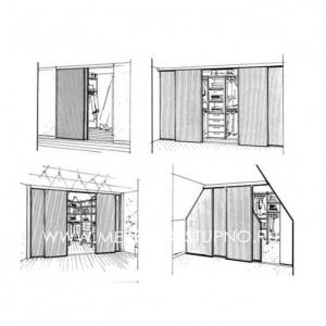 Двери купе для встроенного шкафа (ниши) недорогие