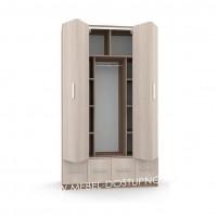 Шкаф-гармошка Люкс-2.4 (со складными дверями и ящиками)