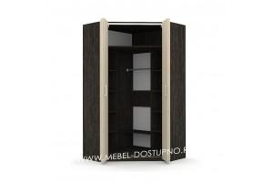 Шкаф-гармошка Люкс-2 У (угловой со складными дверями)