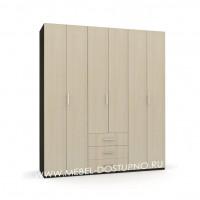 Шкаф-гармошка Люкс-3.3 (со складными дверями и ящиками)