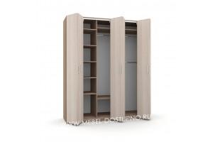 Шкаф-гармошка Люкс-3 (со складными дверями)