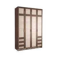 Жалюзи ЧР-13 шкаф 4-х дверный (с реечными вставками Кантри)