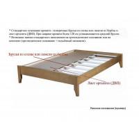 Кровать Клара-1 из массива дерева (береза, бук, дуб, ясень)