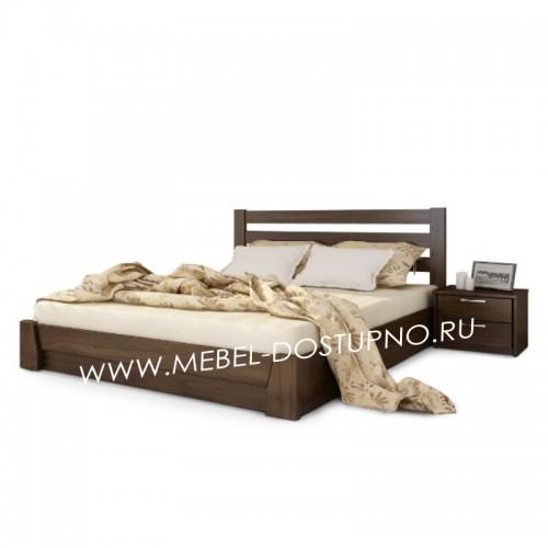 Кровать из массива дерева на заказ по индивидуальным размерам