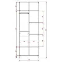 Модерн-1 глянцевый шкаф распашной с закругленными углами