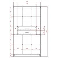 Модерн-11 глянцевый шкаф распашной с закругленными углами
