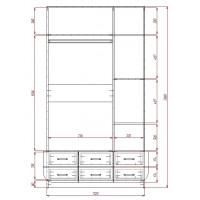 Модерн-13 глянцевый шкаф распашной с закругленными углами