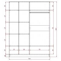 Модерн-14 глянцевый шкаф распашной с закругленными углами