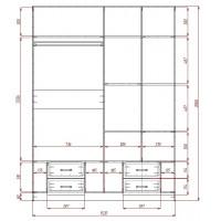 Модерн-15 глянцевый шкаф распашной с закругленными углами
