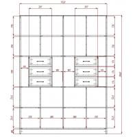 Модерн-17 глянцевый шкаф распашной с закругленными углами