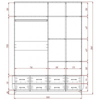 Модерн-19 глянцевый шкаф распашной с закругленными углами
