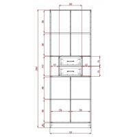Модерн-2 глянцевый шкаф распашной с закругленными углами