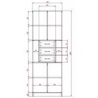 Модерн-4 глянцевый шкаф распашной с закругленными углами