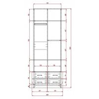 Модерн-6 глянцевый шкаф распашной с закругленными углами