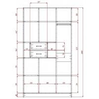 Модерн-9 глянцевый шкаф распашной с закругленными углами