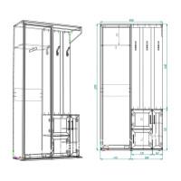Прихожая Жозефина-4 шкаф-купе (с рисунком и без)