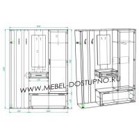 Прихожая Жозефина-6 шкаф-купе (с рисунком и без)