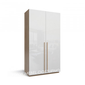 Моне-1 глянцевый распашной шкаф