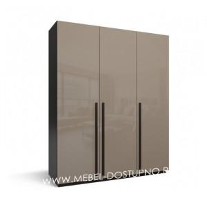 Моне-3 глянцевый распашной шкаф