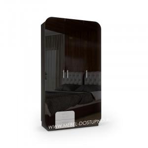 Модерн-10 глянцевый шкаф распашной с закругленными углами