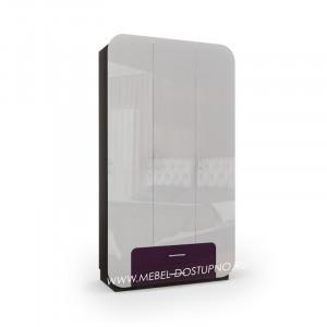 Модерн-12 глянцевый шкаф распашной с закругленными углами